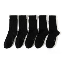 Eco-friendly blank soft bamboo crew black dress socks